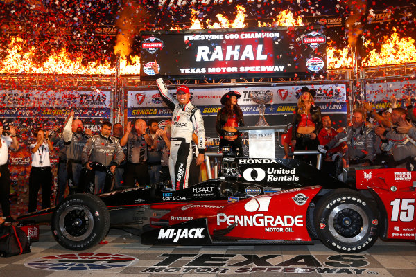 10-11 June, 2016, Fort Worth, Texas USA Graham Rahal celebrates in victory lane ?2016, Phillip Abbott LAT Photo USA