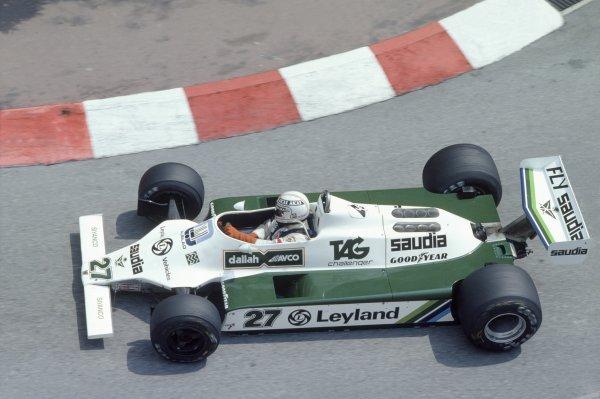 1980 Monaco Grand Prix.Monte Carlo, Monaco. 15-18 May 1980.Alan Jones (Williams FW07B-Ford Cosworth), retired.World Copyright: LAT PhotographicRef: 35mm transparency 80MON01