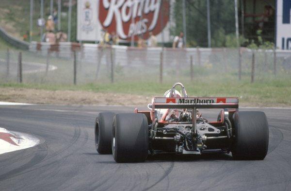 1981 Belgian Grand Prix.Zolder, Belgium. 15-17 May 1981.Andrea de Cesaris (McLaren M29F-Ford Cosworth), retired.World Copyright: LAT PhotographicRef: 35mm transparency 81BEL02
