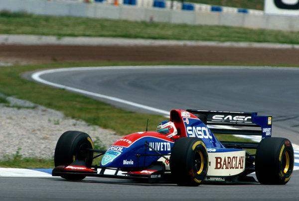 Catalunya, Barcelona, Spain. 7th - 9th May 1993.Rubens Barrichello (Jordan 931-Hart), 12th position, action. World Copyright: LAT Photographic.Ref:  Colour Transparency.