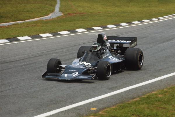 Interlagos, Sao Paulo, Brazil.25-27 January 1974.Jean-Pierre Jarier. Shadow-Ford DN1, retired, action. World Copyright: LAT Photographic.Ref:  74BRA12.