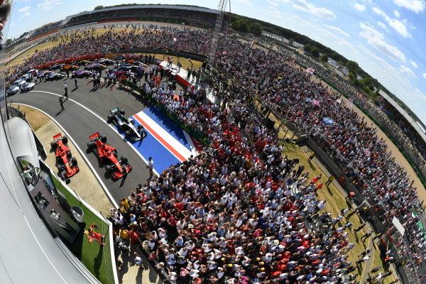 Race winner Sebastian Vettel (GER) Ferrari celebrates on the podium