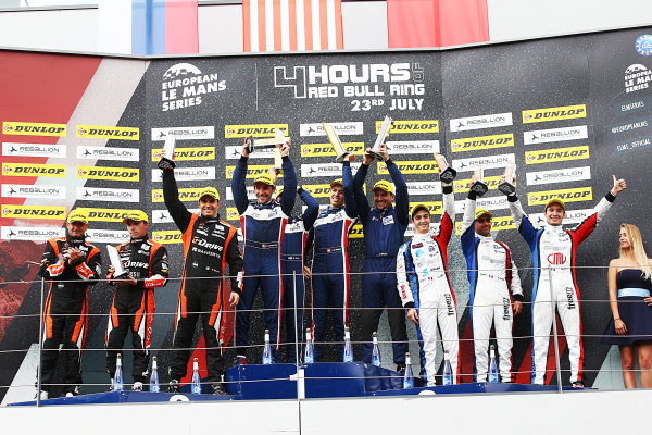 2017  European Le Mans Series, Red Bull Ring, 21st-23rd July 2017, P2 Podium  World Copyright. JEP/LAT Images