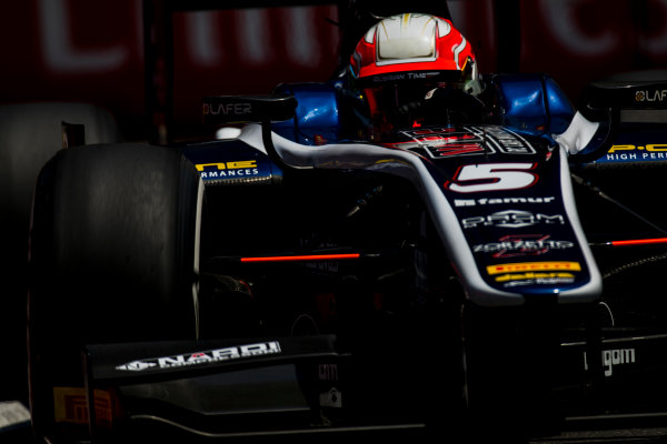 2017 FIA Formula 2 Round 4. Baku City Circuit, Baku, Azerbaijan. Friday 23 June 2017.Luca Ghiotto (ITA, RUSSIAN TIME)  Photo: Zak Mauger/FIA Formula 2. ref: Digital Image _54I0375