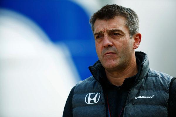 Silverstone, Northamptonshire, UK.  Friday 14 July 2017. Paul James, Team Manager, McLaren. World Copyright: Andy Hone/LAT Images  ref: Digital Image _ONZ5254