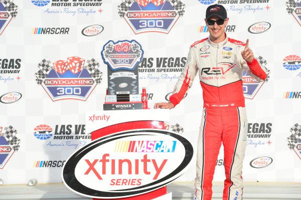 2017 NASCAR Xfinity Series - Boyd Gaming 300 Las Vegas Motor Speedway - Las Vegas, NV USA Saturday 11 March 2017 Joey Logano, Wins the Xfinity race in Las Vegas. World Copyright: John K Harrelson / LAT Images ref: Digital Image 17LAS1jh_01791