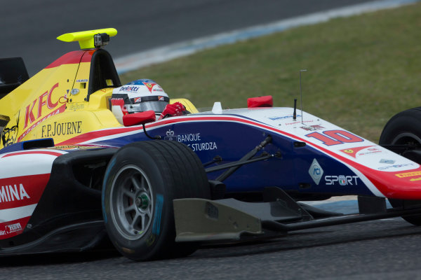 2017 GP3 Series Testing Estoril, Portugal. Wednesday 22 March 2017 Giuliano Alesi (FRA, Trident). Action.  Photo: Alastair Staley/GP3 Series Media Service ref: Digital Image 585A1199