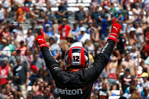Verizon IndyCar Series Indianapolis 500 Carb Day Indianapolis Motor Speedway, Indianapolis, IN USA Friday 26 May 2017 Will Power, Team Penske Chevrolet celebrates winning the Pit Stop Competition World Copyright: Phillip Abbott LAT Images ref: Digital Image abbott_indy_0517_26870