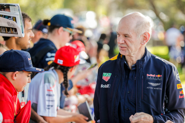 Albert Park, Melbourne, Australia. Thursday 23 March 2017. Adrian Newey, Chief Technical Officer, Red Bull Racing. World Copyright: Sam Bloxham/LAT Images ref: Digital Image _J6I1234