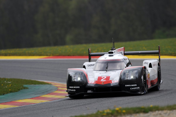 2017 FIA World Endurance Championship. Spa-Francorchamps, Belgium, 4th-6th May 2017. #2 Porsche Team Porsche 919 Hybrid: Timo Bernhard, Earl Bamber, Brendon Hartley World Copyright: JEP/LAT Images
