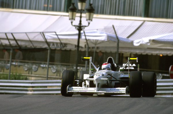 Monte Carlo, Monaco.8-11 May 1997.Jos Verstappen (Tyrrell 025 Ford) 8th position at Casino.Ref-97 MON 14.World Copyright - LAT Photographic