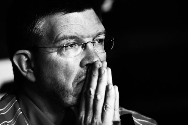 Ross Brawn (GBR) Ferrari Technical Director in the FIA Press Conference.  Formula One World Championship, Rd 5, European Grand Prix, Practice Day, Nurburgring, Germany, 5 May 2006.   DIGITAL IMAGE
