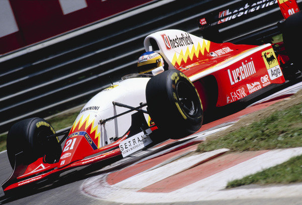 1993 Belgian Grand Prix.Spa-Francorchamps, Belgium. 27-29 August 1993.Michele Alboreto (Scuderia Italia/Lola T93/30 Ferrari).Ref-93 BEL 17.World Copyright - LAT Photographic