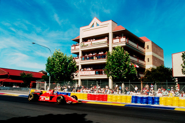 Adelaide, Australia. 10-12 November 1995. Jean Alesi (Ferrari 412). He exited the race after he collided with Michael Schumacher. Ref-95 AUS 32. World Copyright - LAT Photographic