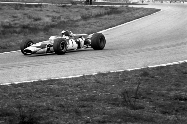 Hockenheim, Germany. 7th April 1968 Jim Clark (Lotus 48 - Cosworth) action. The last picture of Clark before his fatal accident. World Copyright: LAT Photographic ref: 1937/27A