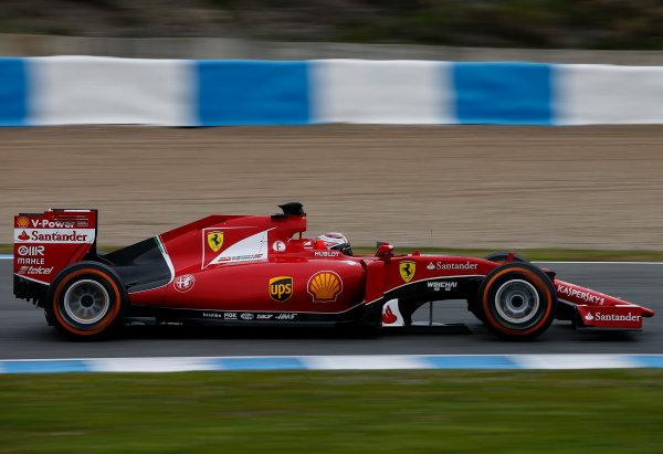 2015 F1 Pre Season Test 1 - Day 1 Circuito de Jerez, Jerez, Spain. Tuesday 3 February 2015. Kimi Raikkonen, Ferrari SF15-T. World Copyright: Glenn Dunbar/LAT Photographic. ref: Digital Image _W2Q9027