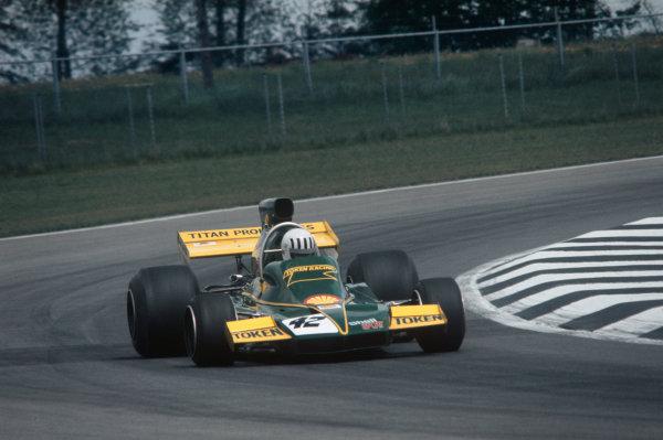 1974 Belgian Grand Prix  Nivelles-Baulers, Belgium. 10-12th May 1974.  Tom Pryce, Token RJ02 Ford, retired.  Ref: 74BEL10. World Copyright: LAT Photographic