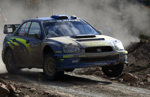 Petter Solberg (NOR) / Phil Mills (GBR) Subaru Impreza WRC 2004 finished 4th after a 5 minute penalty.