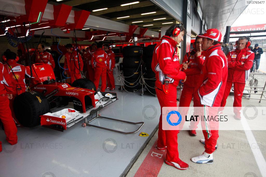 Silverstone, Northamptonshire, England7th July 2012Massimo RIvola, Sporting Director, Ferrari, with Fernando Alonso, Ferrari. World Copyright:Andrew Ferraro/LAT Photographicref: Digital Image AF5D0860