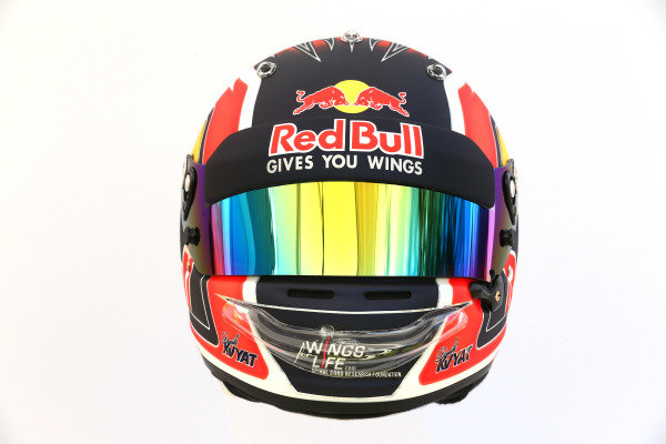 The helmet of Daniil Kvyat (RUS) Scuderia Toro Rosso at Formula One World Championship, Rd1, Australian Grand Prix, Preparations, Albert Park, Melbourne, Australia, Thursday 23 March 2017.