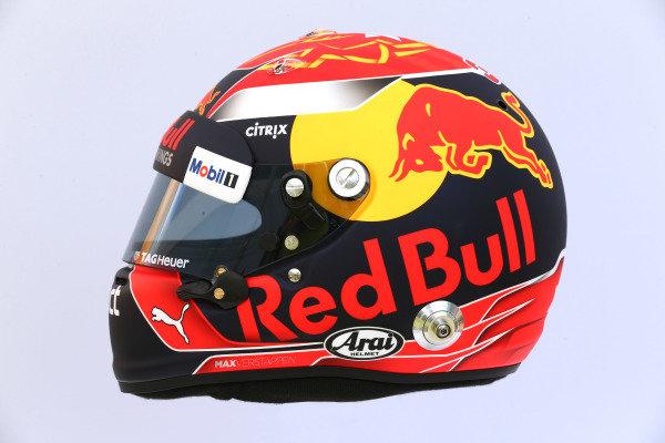 The helmet of Max Verstappen (NED) Red Bull Racing at Formula One World Championship, Rd1, Australian Grand Prix, Preparations, Albert Park, Melbourne, Australia, Thursday 23 March 2017.