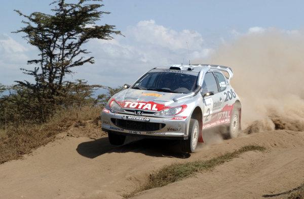 2002 World Rally Championship.Safari Rally, Nairobi Kenya, July 11-14th.Marcus Gronholm during shakedown.Photo: Ralph Hardwick/LAT