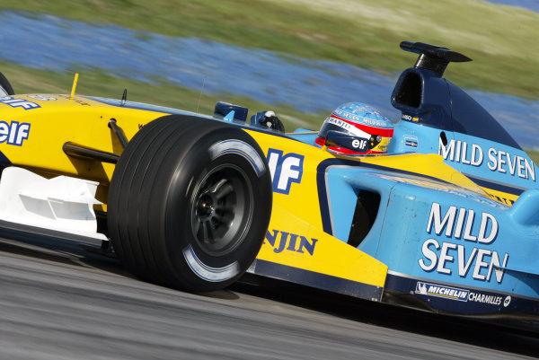2003 Malaysian Grand Prix. Sepang, Kuala Lumpur, Malaysia.21-23 March 2003.Fernando Alonso (Renault R23) 3rd position. World Copyright - Steve Etherington/LAT Photographic ref: Digital Image Only