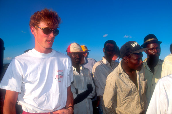 1994 World Rally Championship Safari Rally, Kenya, 1994. Richard Burns' first WRC start. Subaru Impreza, portrait. World Copyright: LAT Photographic