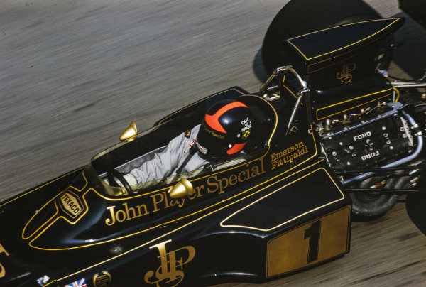 Emerson Fittipaldi, Lotus 72E Ford.