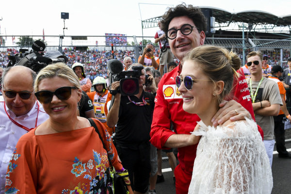 Corinna Schumacher, Gina-Maria Schumacher and Mattia Binotto, Team Principal Ferrari celebrating the F2 win of Mick Schumacher (DEU, PREMA RACING)