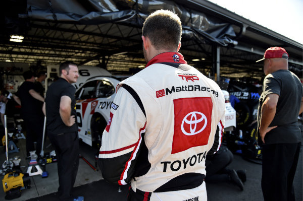 #95: Matt DiBenedetto, Leavine Family Racing, Toyota Camry IMSA GTO Throwback