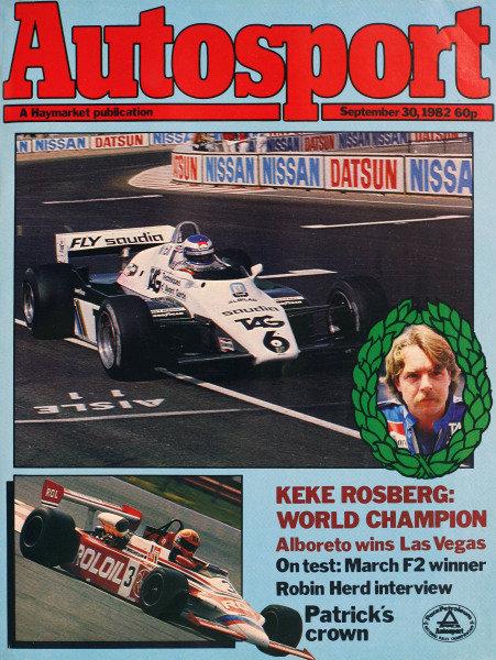 Cover of Autosport magazine, 30th September 1982