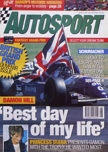 Cover of Autosport magazine, 14th July 1994