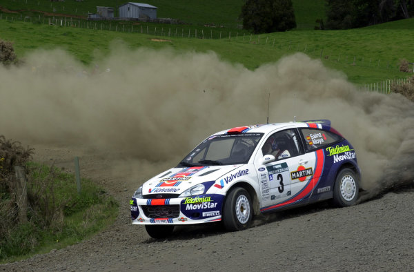 2001 World Rally Championship.Rally of New Zealand. September 20-23, 2001.Auckland, New Zealand.Carlos Sainz on stage 4.Photo: Ralph Hardwick/LAT
