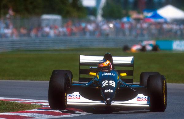 1993 Canadian Grand Prix.Montreal, Quebec, Canada.11-13 June 1993.Karl Wendlinger (Sauber C12 Ilmor) 6th positionRef-93 CAN 11.World Copyright - LAT Photographic