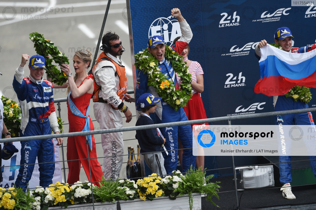 Third place overall #11 SMP Racing BR Engineering BR1: Mikhail Aleshin, Vitaly Petrov, Stoffel Vandoorne