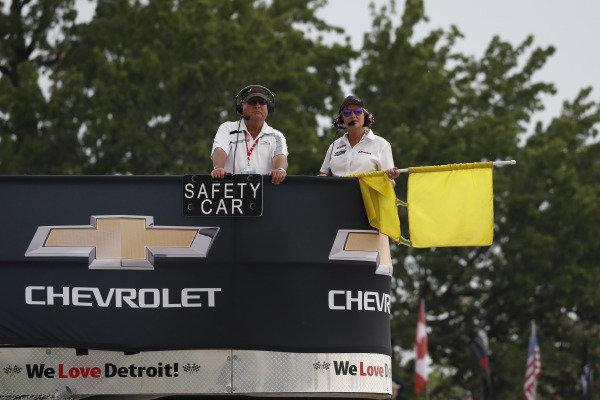 Starter, flag stand, safety car