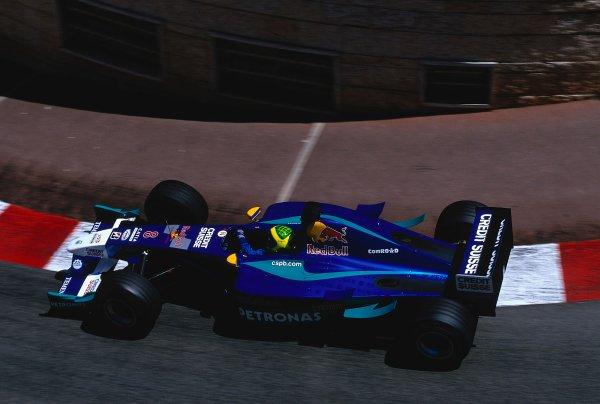 2002 Monaco Grand Prix.Monte Carlo, Monaco. 23-26 May 2002.Felipe Massa (Sauber C21 Petronas) at Lower Mirabeau. Ref-02 MON 33.World Copyright - LAT Photographic