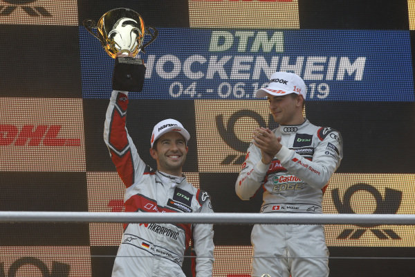 Podium: second place Mike Rockenfeller, Audi Sport Team Phoenix.
