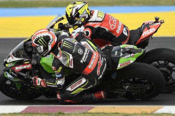 Jonathan Rea, Kawasaki Racing Team, Alvaro Bautista, Aruba.it Racing-Ducati Team.