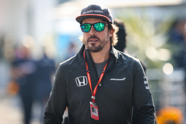 Fernando Alonso (ESP) McLaren at Formula One World Championship, Rd18, Mexican Grand Prix, Race, Circuit Hermanos Rodriguez, Mexico City, Mexico, Sunday 29 October 2017.