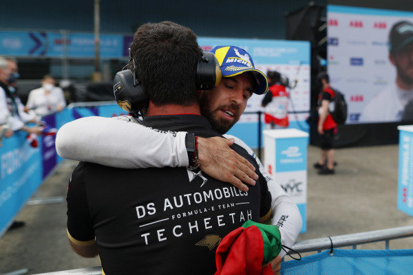Antonio Felix da Costa (PRT), DS Techeetah, 3rd position, in Parc Ferme