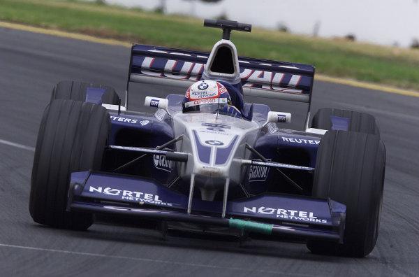 Australian Grand Prix.Albert Park, Melbourne, Australia. 2-4 March 2001.Juan-Pablo Montoya (Williams FW23 BMW) on his Grand Prix debut.World Copyright - Steve Etherington/LAT Photographicref: 8 9MB Digital Image