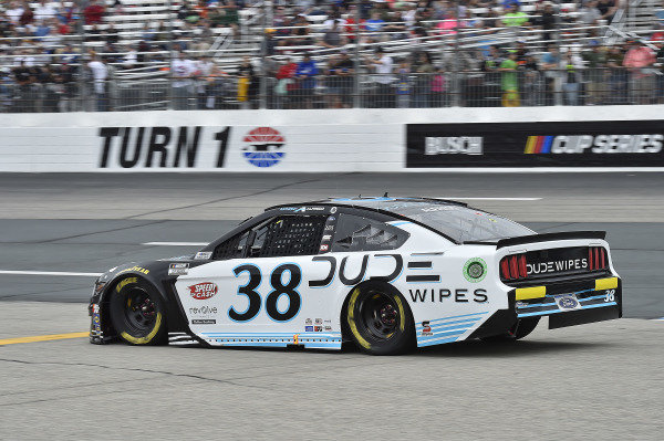 #38: Anthony Alfredo, Front Row Motorsports, Ford Mustang Dude Wipes