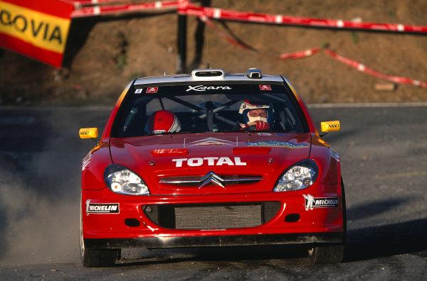 2002 World Rally ChampionshipRally Catalunya, Spain. 21st - 24th March 2002.Philippe Bugalski / Chiaroni, Citroen Xsara, 3rd position overall.World Copyright: McKlein/LAT Photographic.ref: 35mm Image 02 WRC 17