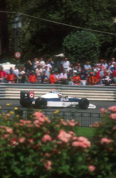 1990 Monaco Grand Prix.Monte Carlo, Monaco.25-27 May 1990.Jean Alesi (Tyrrell 019 Ford) 2nd position.Ref-90 MON 10.World Copyright - LAT Photographic