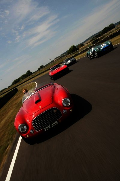 2006 Goodwood Revival Press Day. Goodwood, West Sussex. 19th July 2006. Cortvette, Aston, Ferrari and Jaguar Marques on track.World Copyright: Gary Hawkins/LAT Photographic. Ref: Digital Image Only.