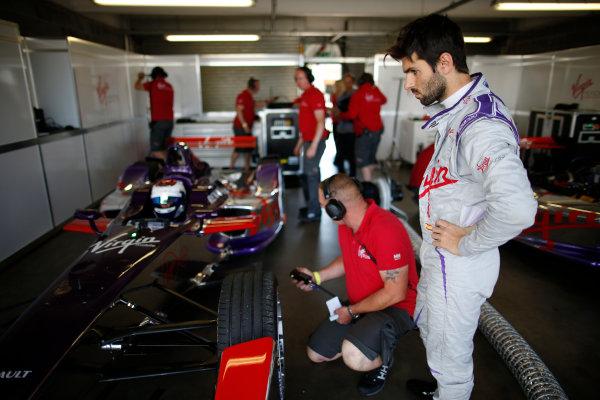 FIA Formula E Test Day, Donington Park, UK.  9th - 10th July 2014.  Jaime Alguersuari, Virgin Racing. Photo: Glenn Dunbar/FIA Formula E ref: Digital Image _W2Q9805