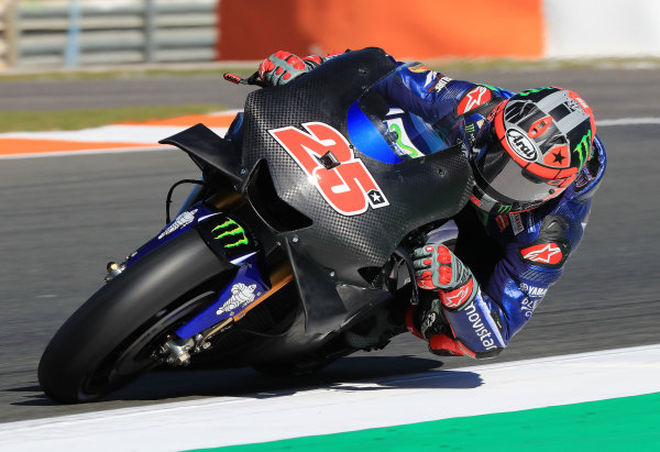 2017 MotoGP Championship - Valencia test, Spain. Tuesday 14 November 2017 Maverick Viñales, Yamaha Factory Racing World Copyright: Gold and Goose / LAT Images ref: Digital Image 706834