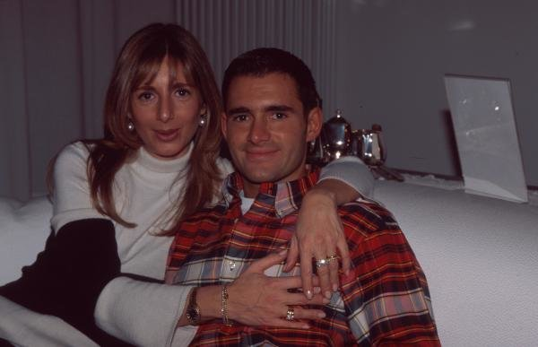 Gianni Morbidelli at home with his wifeFormula One Drivers At Home